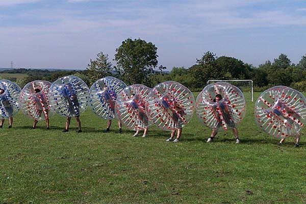 Bubble Football Team Building Exercise